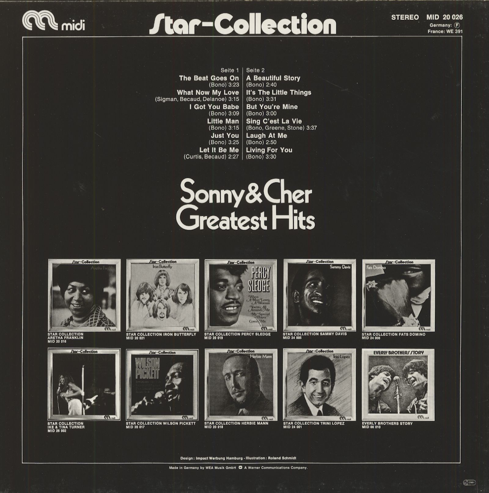 Sonny Amp Cher Lp Greates Hits Star Collection Bear