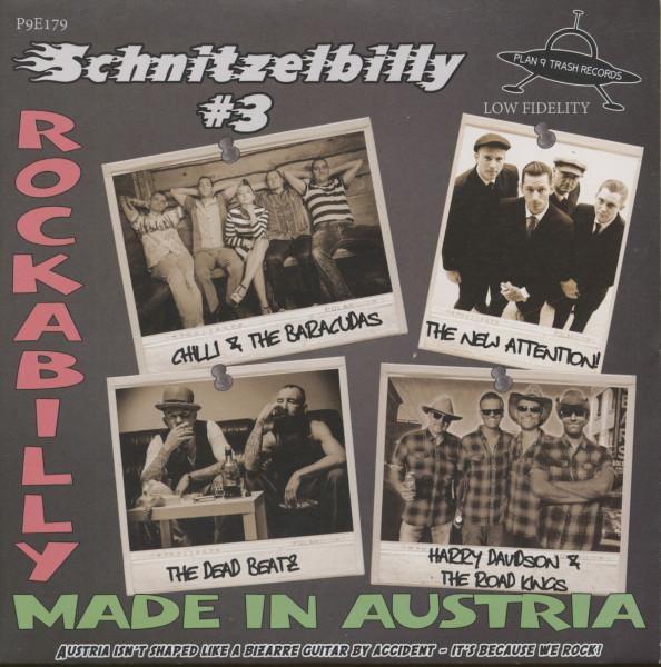 Schnitzelbilly No.3 - Rockabilly Made In Austria (7inch, EP, 33rpm, PS, SC, Gray Vinyl)