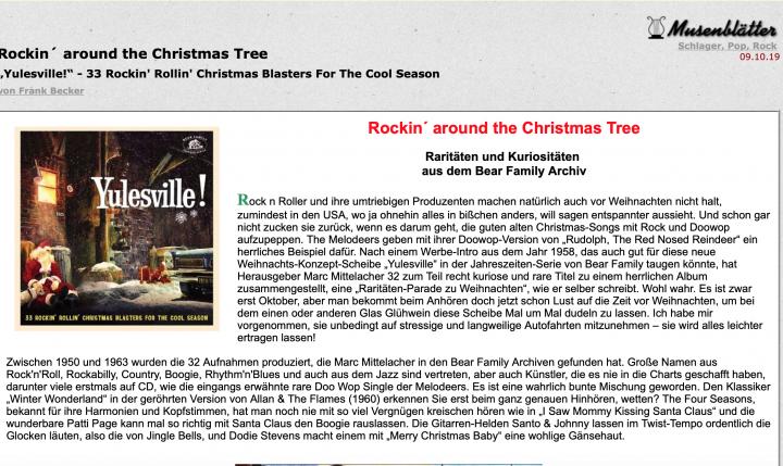 Presse-Archiv-Yulesville-33-Rockin-Rollin-Christmas-Blasters-For-The-Cool-Season-musenbl-tter