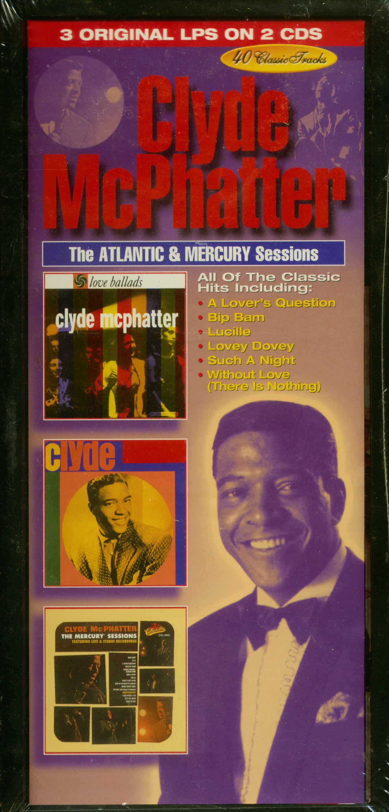 Clyde Mcpatter Cd The Atlantic Amp Mercury Sessions 2 Cd