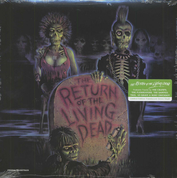 The Return Of The Living Dead (LP, Translucent Green Vinyl, Ltd.)