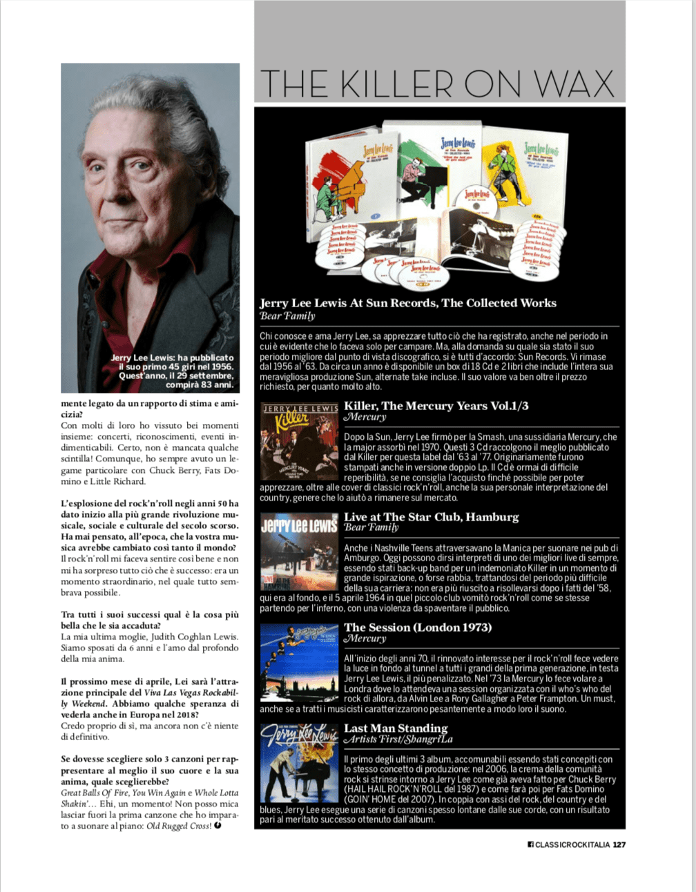 Presse Archiv - Jerry Lee Lewis At Sun Records: The Collected Works - Rock Classic Italia